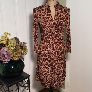International Concept leopard print dress🍁 NWOT